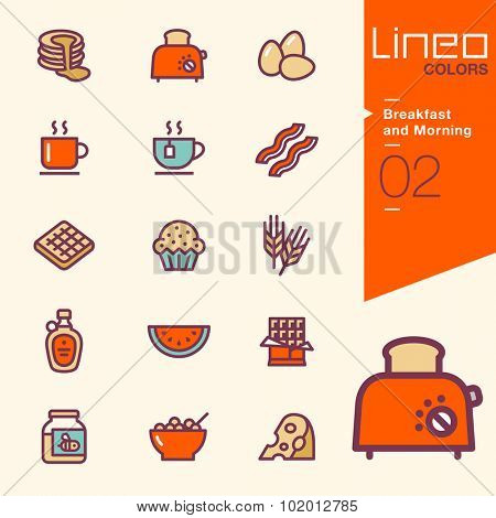 Lineo Colors - Breakfast and Morning icons