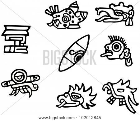 Mayan symbols, great artwork for tattoos