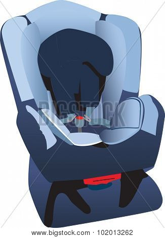 An illustration of a child's car seat.