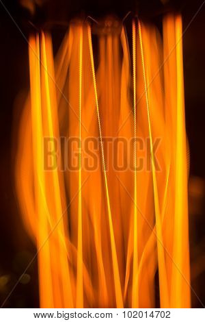 Warm Glow Of The Threads Of Filament Lamp