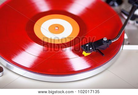 Analog Stereo Turntable Red Vinyl Record Player Head shell Cartridge