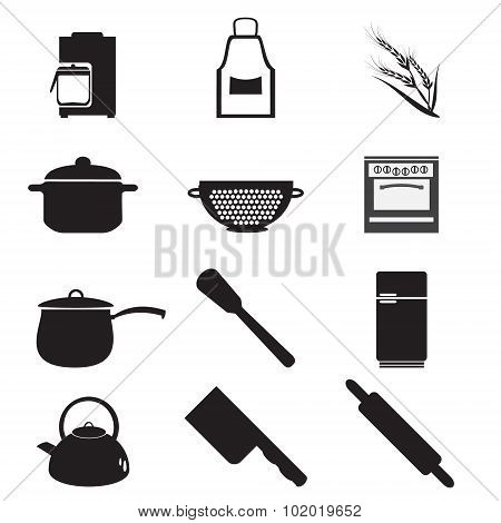 Utensil, Kitchenware Icon Set