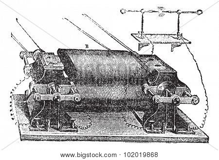 Ladd's Machine, vintage engraved illustration. Trousset encyclopedia (1886 - 1891).