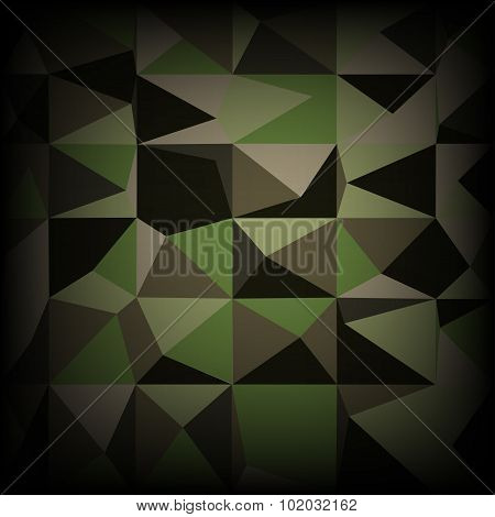 Camouflage military pattern polygonal background. Vector illustration, EPS10