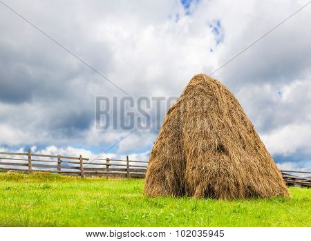 Sheaves Of Hay In The Carpathians