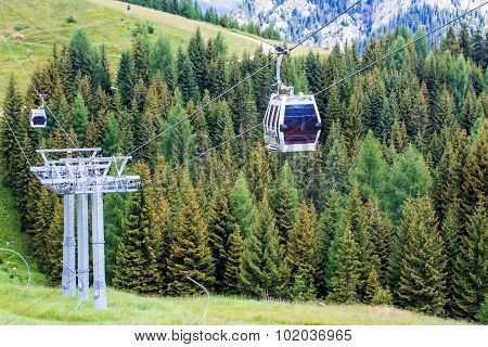 Cableway In The Mountains