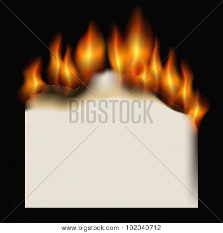 Burning Paper Sheet