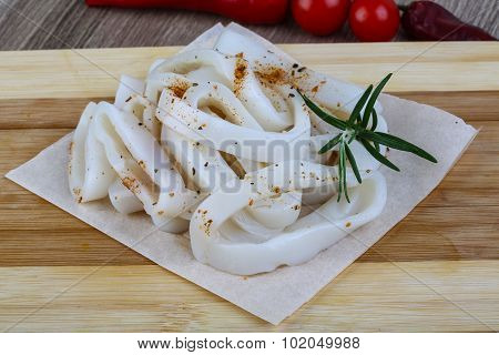 Raw Squid Rings