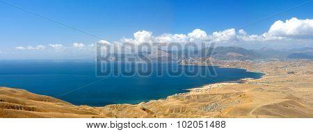 East Crimean coastline -  wide panorama