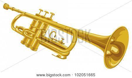 Vector illustration of trumpet.