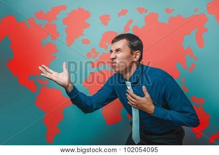 man male teacher Professor businessman showing on the United Sta