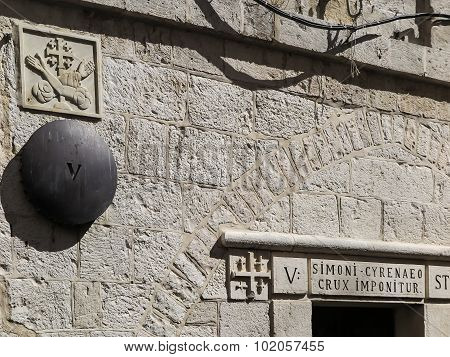 Via Dolorosa - Station 5 - Jerusalem - Israel