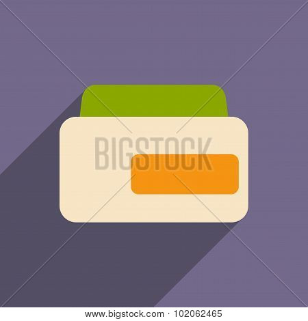 Flat with shadow icon and mobile application hair conditioner