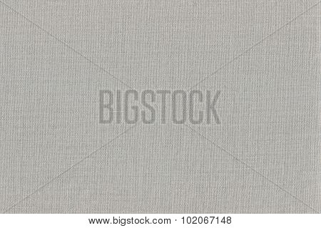 Grey Khaki Cotton Fabric Texture Background, Detailed Macro Closeup, Large Horizontal Textured Gray