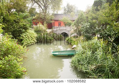 Chengdu - Small Boat On A Pond