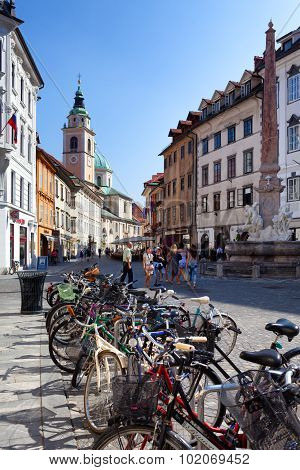 Bicycles In Ljubljana