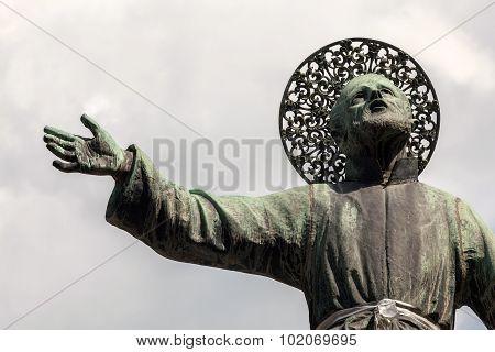 Statue Of San Gaetano In Naples, Italy