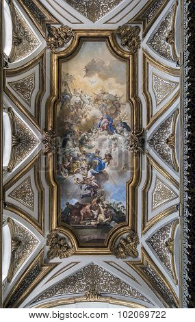 Fresco By Francesco Solimena In The Sacristy Of San Domenico