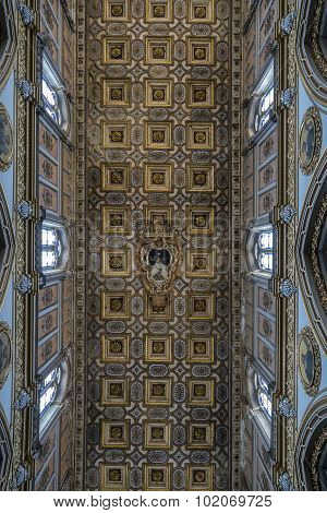 Ceiling Of The San Domenico Maggiore In Naples, Italy