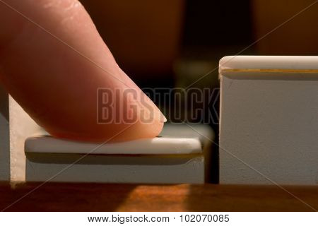 Finger Playing Piano Note