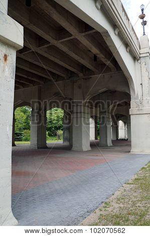Under the Mitchell Street Bridge