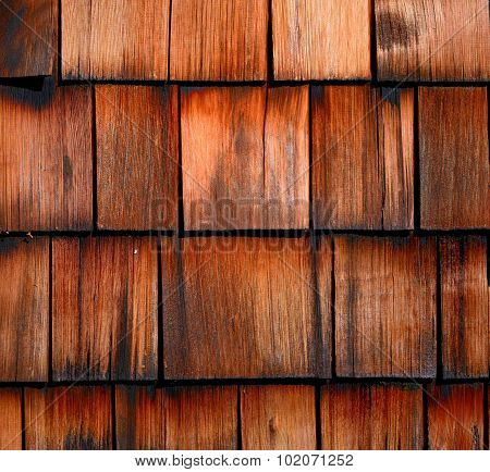 construction of roof with wood tile shingles