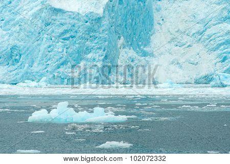 Aialik Glacier Ice Flow Pacific Ocean Alaska Coast