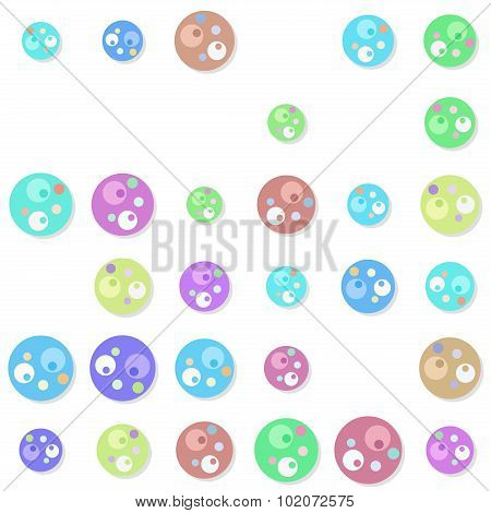 Seamless Circular Elements Pattern With Drop Shadow