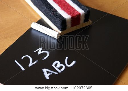 123 Abc On A Chalkboard