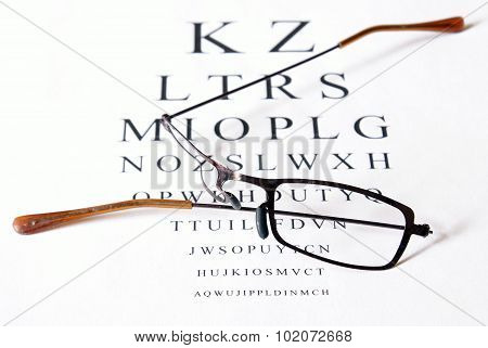 Damage Glasses With Eye Test