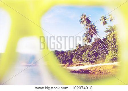 Summer Beach Paradise Landscape Exoticism Concept