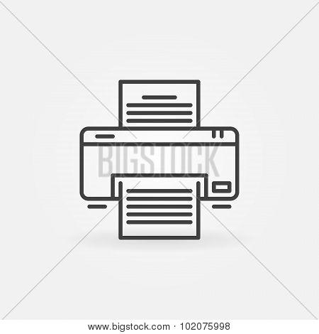 Printer linear icon