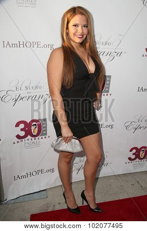 LOS ANGELES - SEP 17:  Breanna Rubio at the Padres Contra El Cancer's 15th Annual