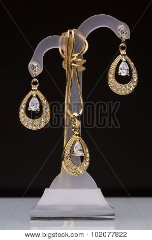 The costume jewellery. Pendant, earrings
