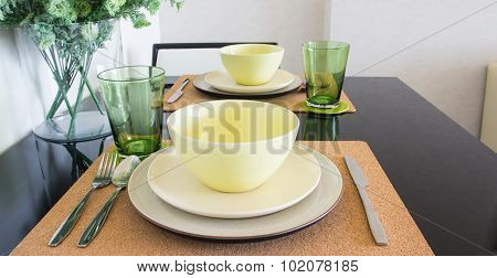 Close Up Table Setting