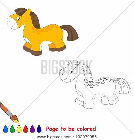 Baby toy horse. Kid game.