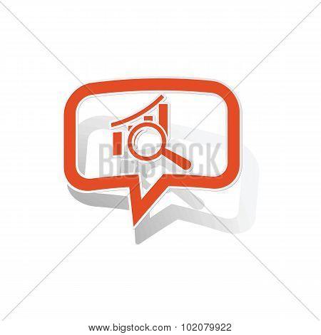 Graphic details message sticker, orange