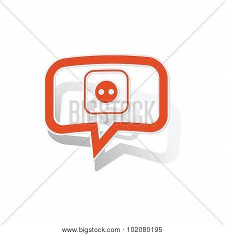 Socket message sticker, orange