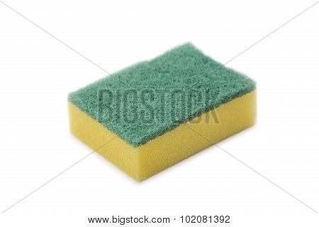 Yellow Sponge On White