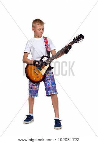 Rocker Boy With Guitar