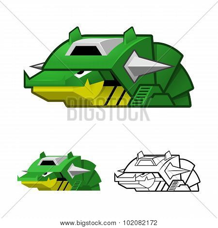 Robot Slug Cartoon Character