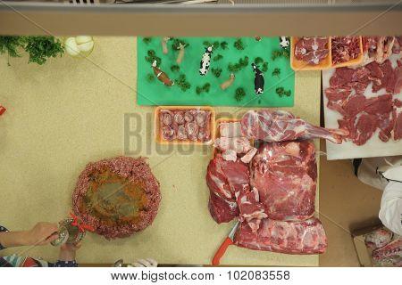Fresh meat market