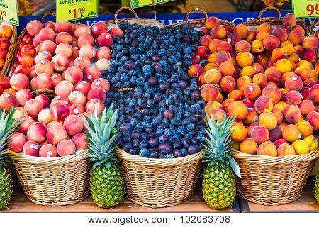 Fruit Stall In New York City