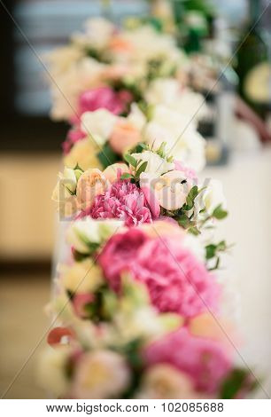 Incredible bouquet of delicate flowers for wedding