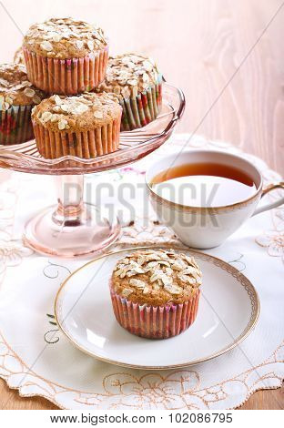 Wholemeal Muffins With Apricots