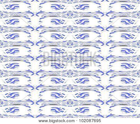 Seamless pattern white blue gray
