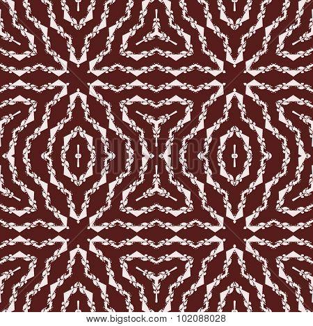 Seamless stars pattern dark brown white