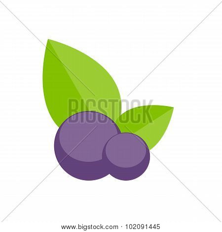 Blueberry Flat Icon Vector Illustration