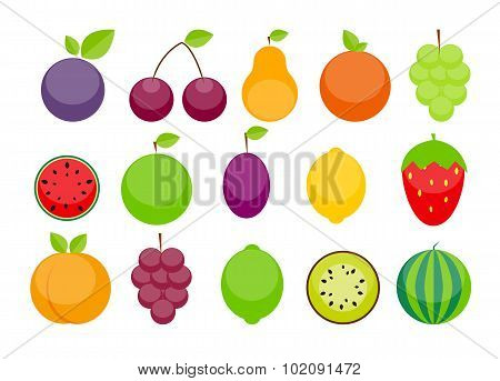 Apple, Orange, Plum, Cherry, Lemon, Lime, Watermelon, Strawberri