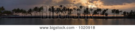 Tropical Sunset Panorama
